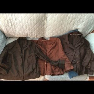 Lot of 3 Tahari possibly plus size 14 blazers with defects